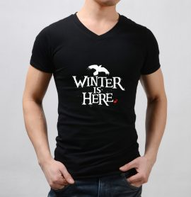 Game of Thrones Winter Is Here Raven Men T-Shirt