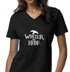 Game of Thrones Winter Is Here Raven Women T-Shirt